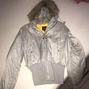 Baby phat puff jacket gray